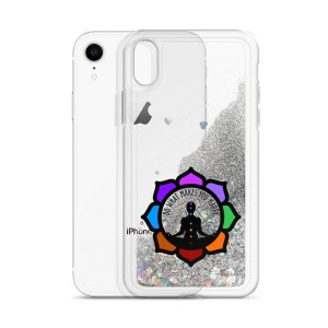 Inspirational Liquid Glitter Case for iPhone XR, Silver