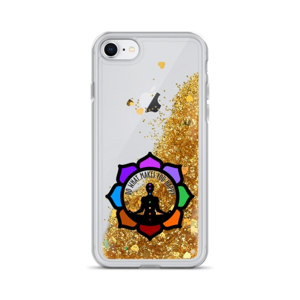 Inspirational Liquid Glitter Case for iPhone 7/8, Gold