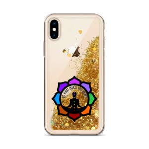 Inspirational Liquid Glitter Case for iPhone X/XS, Gold