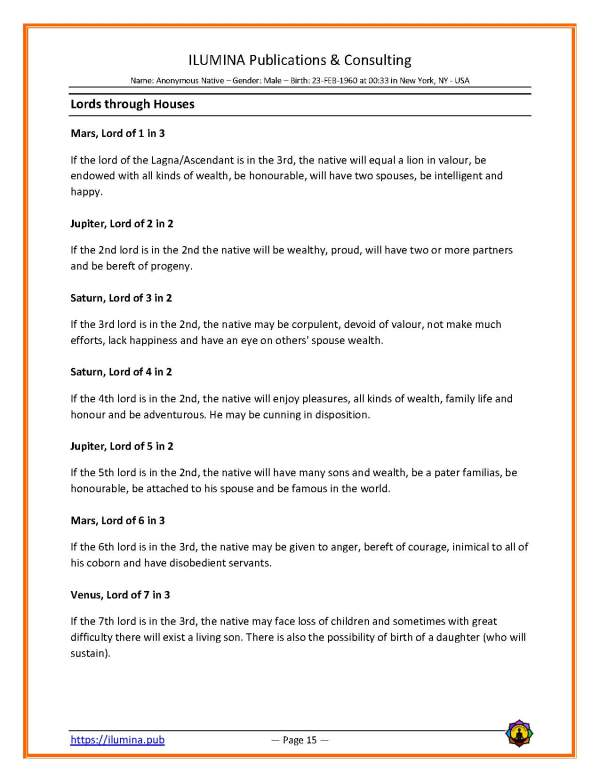 Sample Vedic Horoscope Report - Page 15