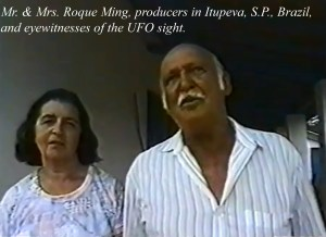 Mr. and Mrs. Roque Ming, Producers in Itupeva, S.P., Brazil, and eyewitnesses of the event.