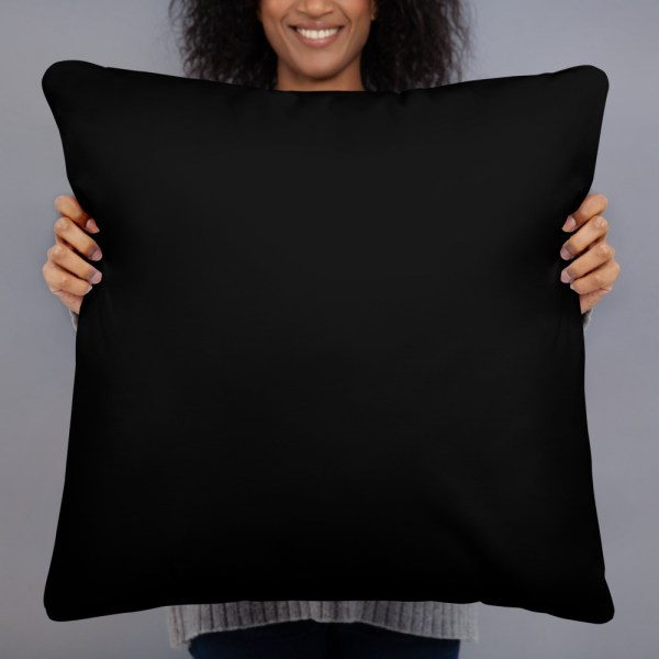 "2-Choices Pillow, Black Back, 22"" x 22"""