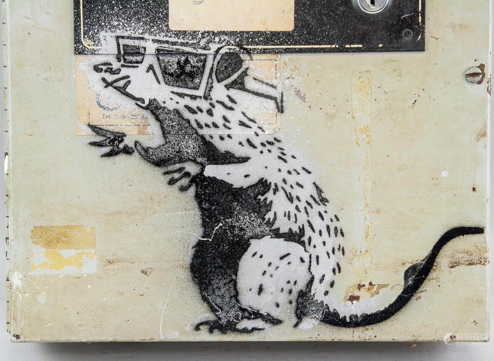 hight resolution of 3d rat stencil metal fuse box spray painted bansky