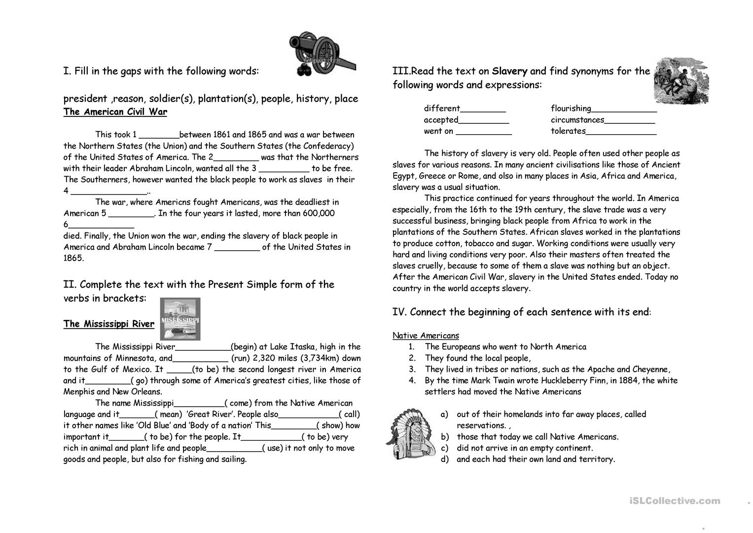Free History Printable Worksheet