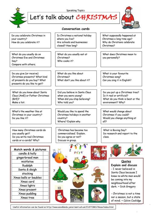 small resolution of English ESL Christmas worksheets - Most downloaded (1106 Results)