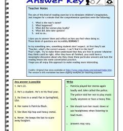 Imaginative Reading Comprehension - A Noisy Neighbor - English ESL  Worksheets for distance learning and physical classrooms [ 1079 x 763 Pixel ]