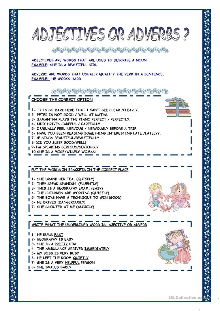 hight resolution of 28 Adjective Or Adverb Worksheet - Free Worksheet Spreadsheet