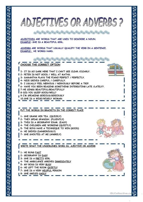 small resolution of 28 Adjective Or Adverb Worksheet - Free Worksheet Spreadsheet