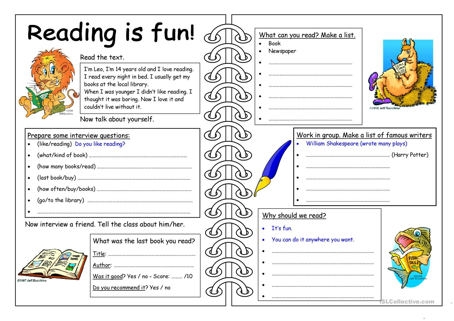 Book Reading Street Worksheet