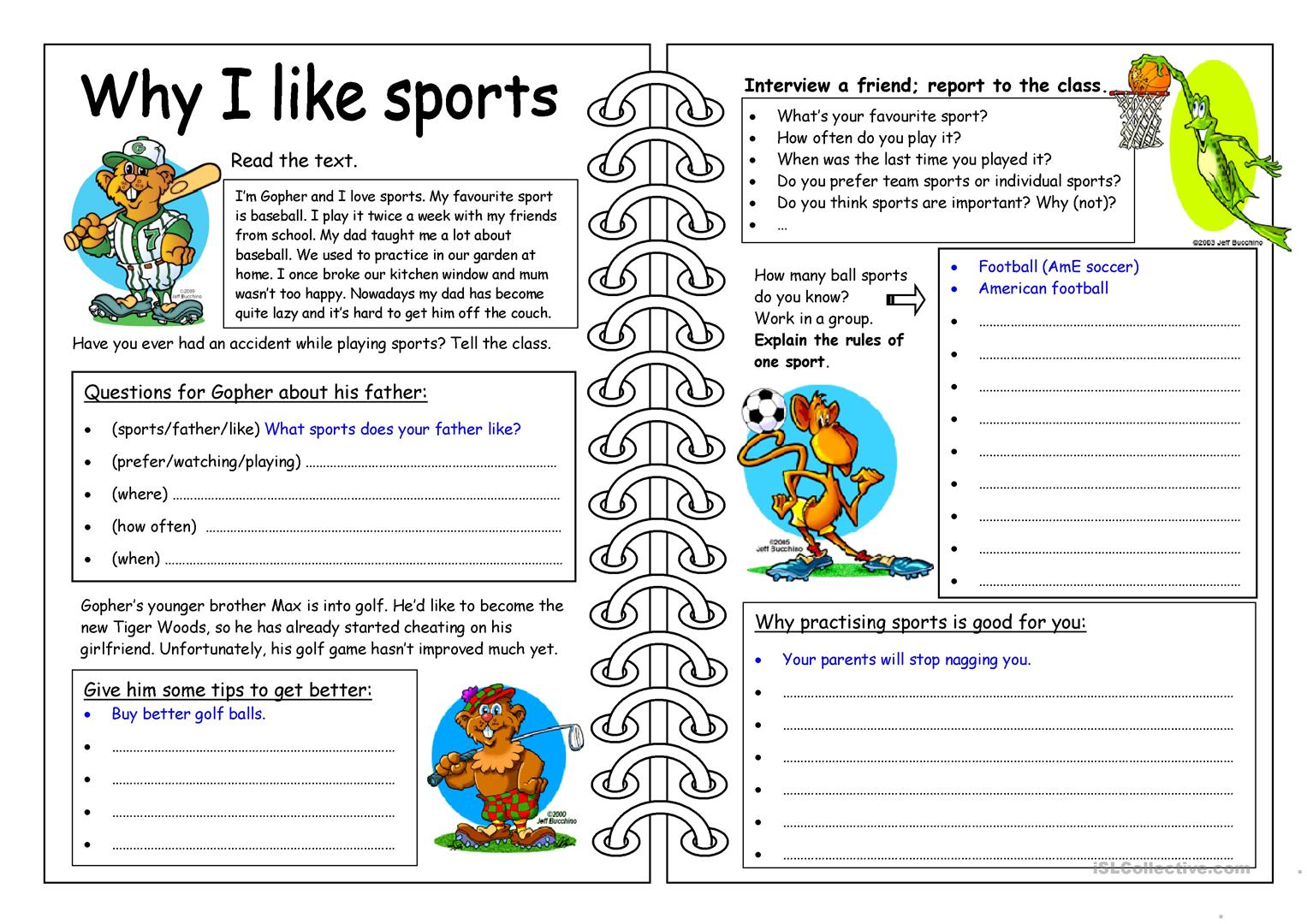 Student Favorites Worksheet