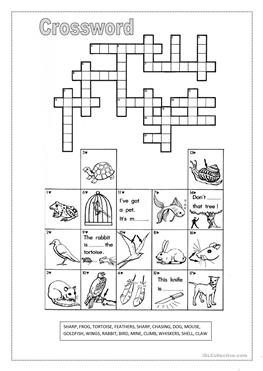46 FREE ESL Word puzzles worksheets