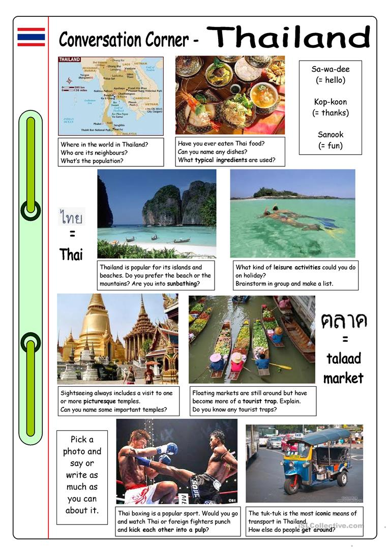 Conversation Corner Thailand Worksheet Free ESL