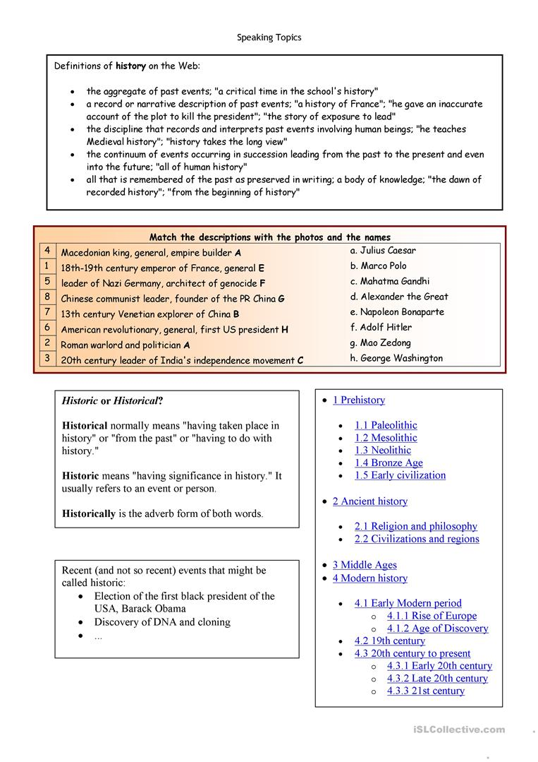 Let S Talk About History Worksheet