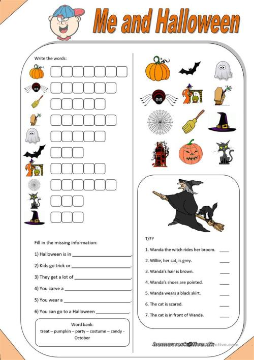 small resolution of Me \u0026 Halloween - English ESL Worksheets for distance learning and physical  classrooms