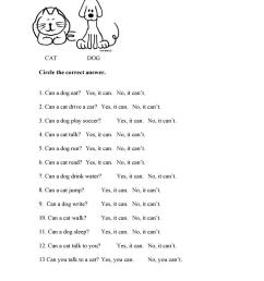 Can/Can't Cat and Dog - English ESL Worksheets for distance learning and  physical classrooms [ 1079 x 763 Pixel ]