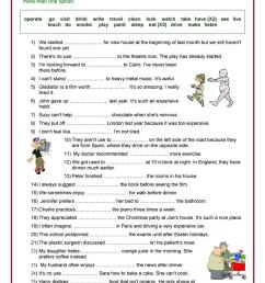 Verb + Gerund Review - English ESL Worksheets for distance learning and  physical classrooms [ 1079 x 763 Pixel ]