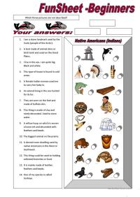 FunSheet for Beginners: Native Americans (Indians ...