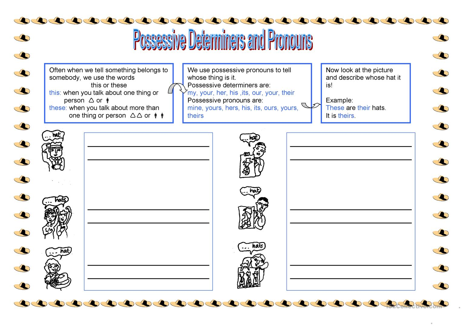 Possessive Determiners And Pronouns