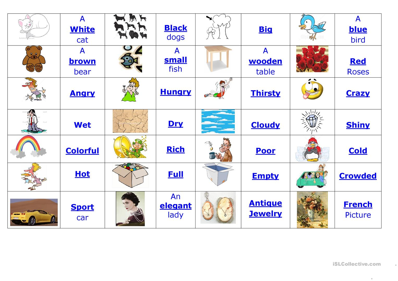 Adjectives Worksheet Doc