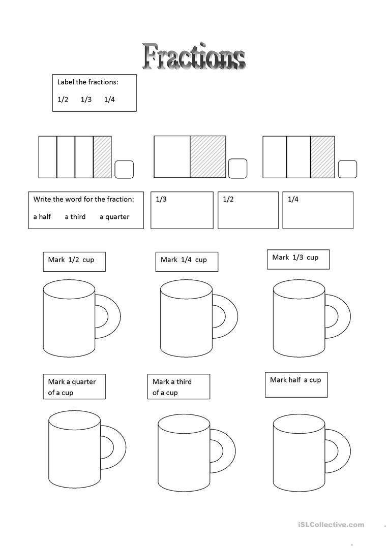 medium resolution of Fractions - English ESL Worksheets for distance learning and physical  classrooms