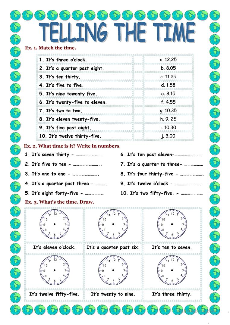 hight resolution of TELLING THE TIME - English ESL Worksheets for distance learning and  physical classrooms