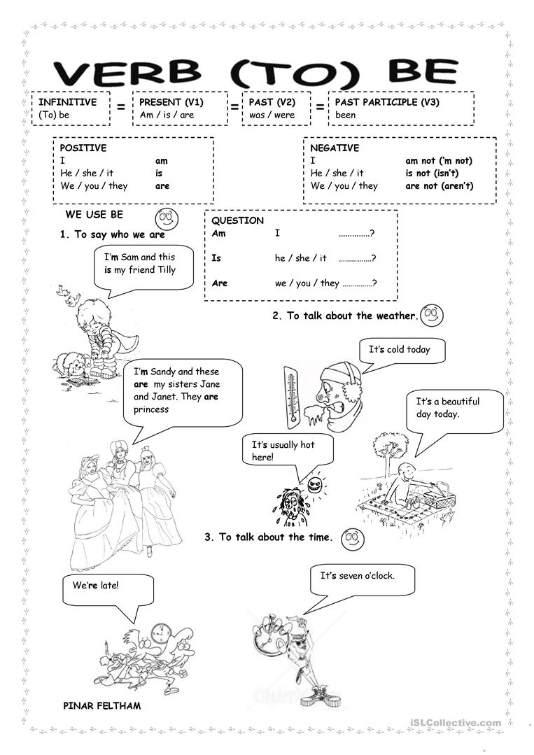 worksheet. Verb To Be Worksheets. Grass Fedjp Worksheet