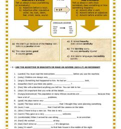 English ESL adverb and adjective worksheets - Most downloaded (29 Results) [ 1079 x 763 Pixel ]