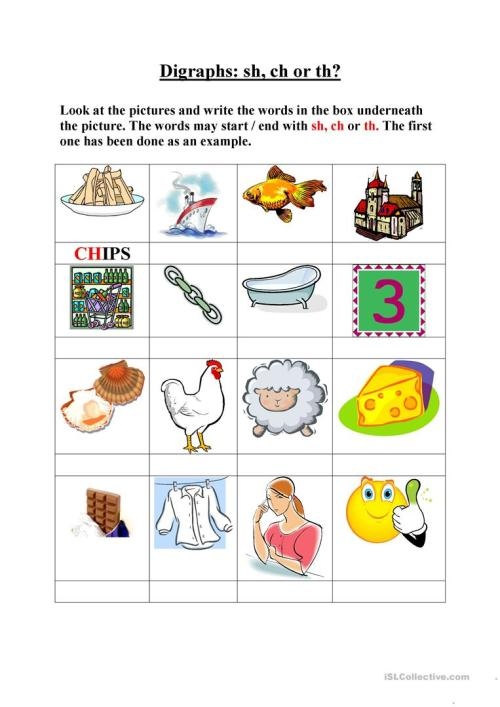 small resolution of English ESL digraphs worksheets - Most downloaded (15 Results)