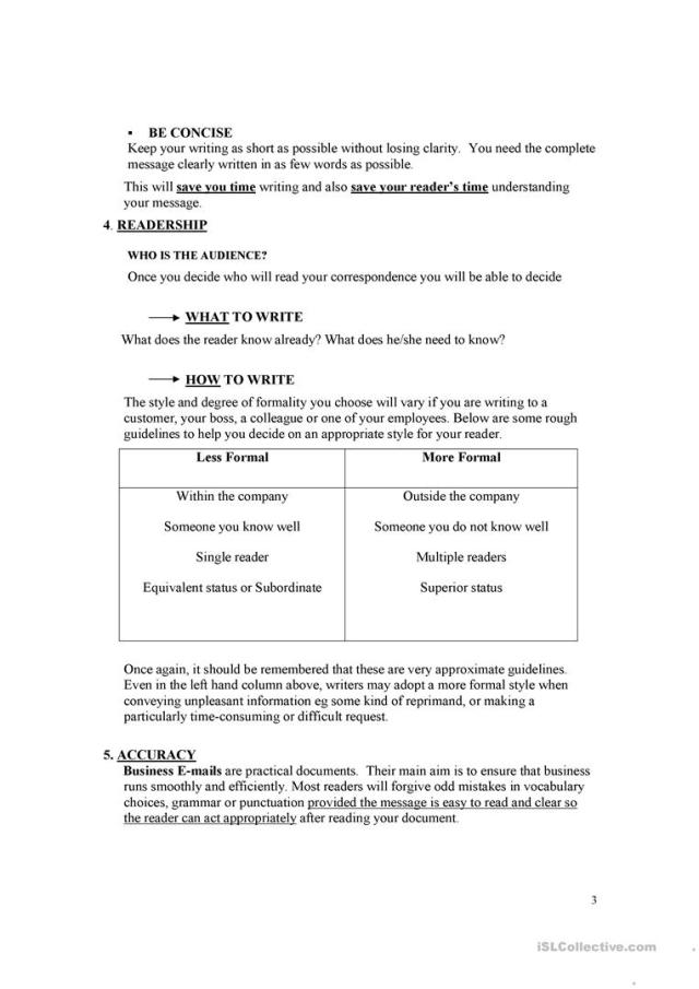 How to write memo,e-mails and letters - English ESL Worksheets for