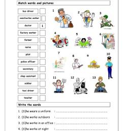 Vocabulary Matching Worksheet - Jobs (1) - English ESL Worksheets for  distance learning and physical classrooms [ 1079 x 763 Pixel ]
