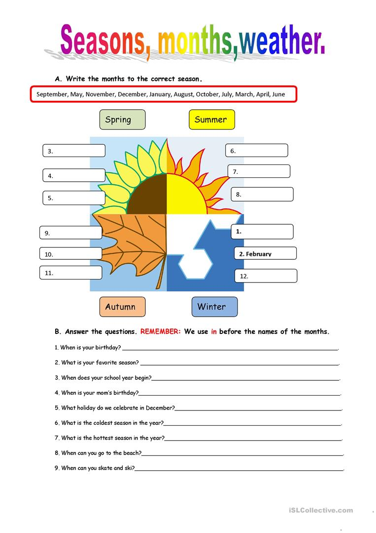 hight resolution of English ESL Weather worksheets - Most downloaded (563 Results)