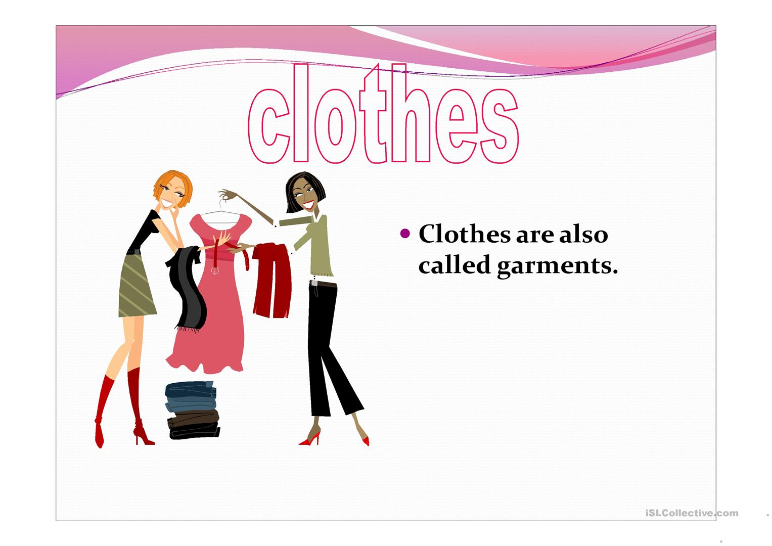 Clothes 1 Worksheet