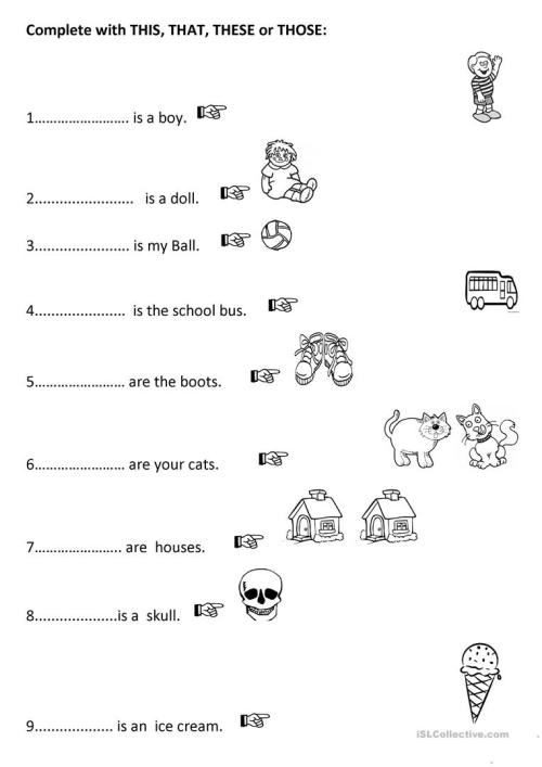 small resolution of English ESL demonstrative worksheets - Most downloaded (119 Results)