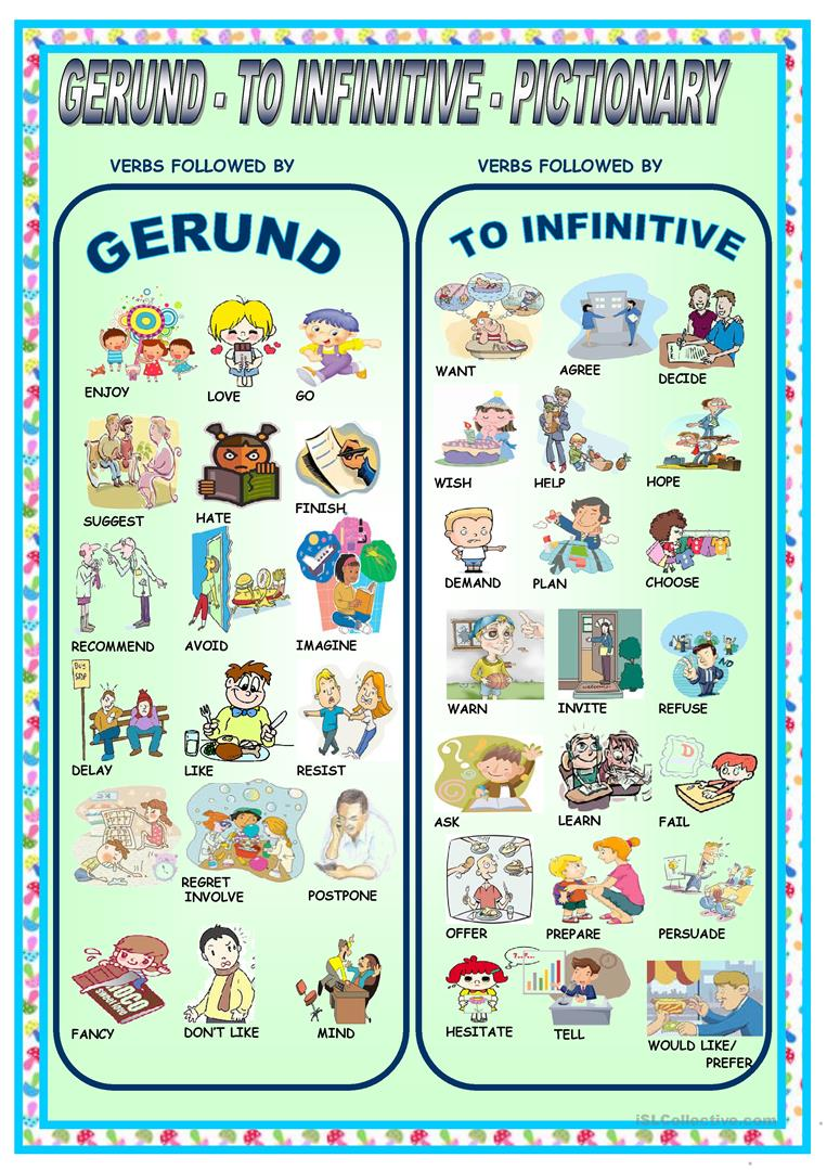 hight resolution of English ESL Gerunds and Infinitives worksheets - Most downloaded (319  Results)