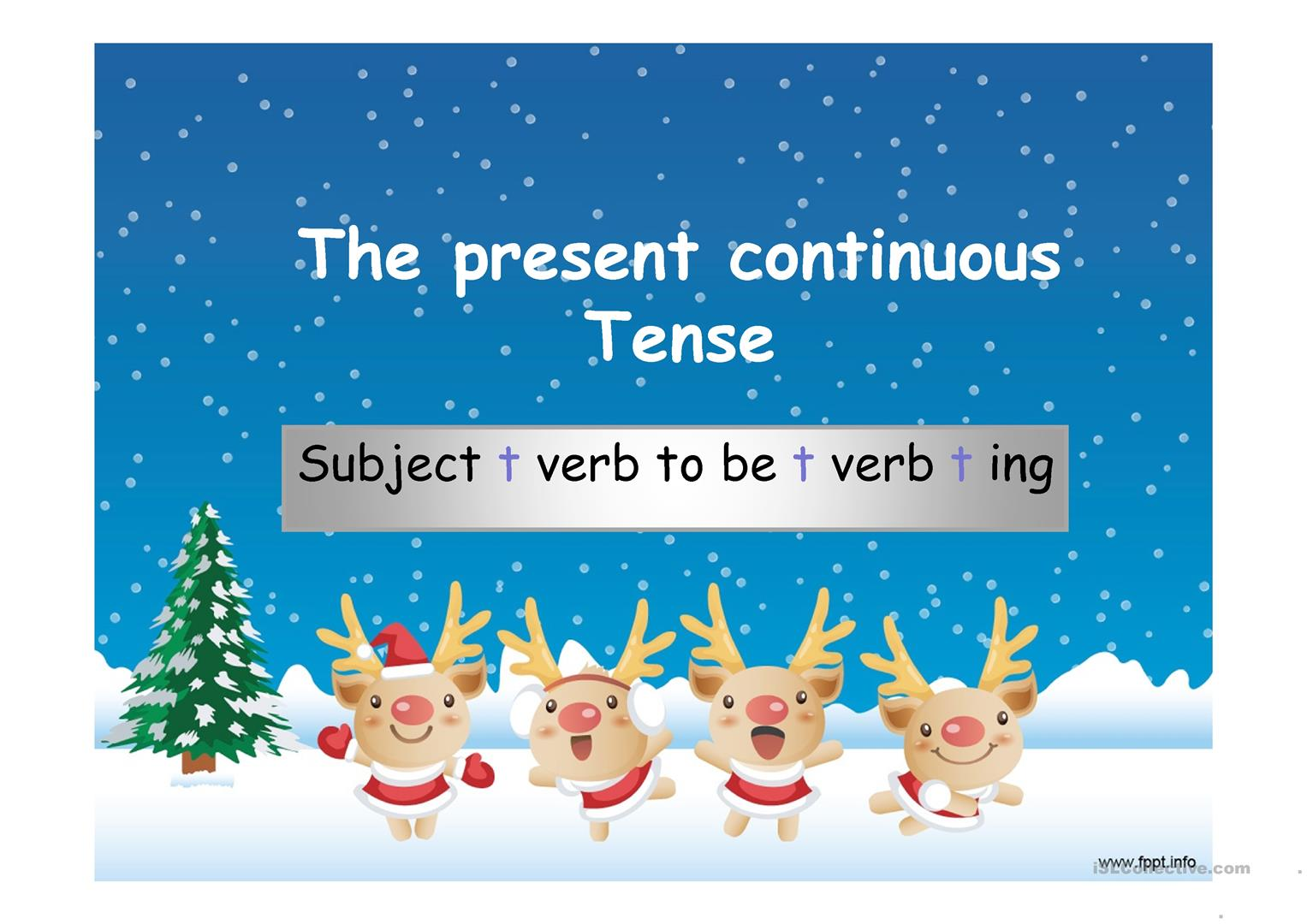 Present Continuous Tense A Power Point Presentation Review