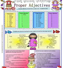 Proper Adjectives - English ESL Worksheets for distance learning and  physical classrooms [ 1079 x 763 Pixel ]