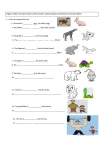 Free Esl Comparisons Worksheets Comparison Middle School