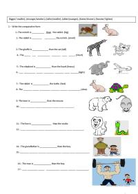Free Esl Comparisons Worksheets Comparison Middle School ...