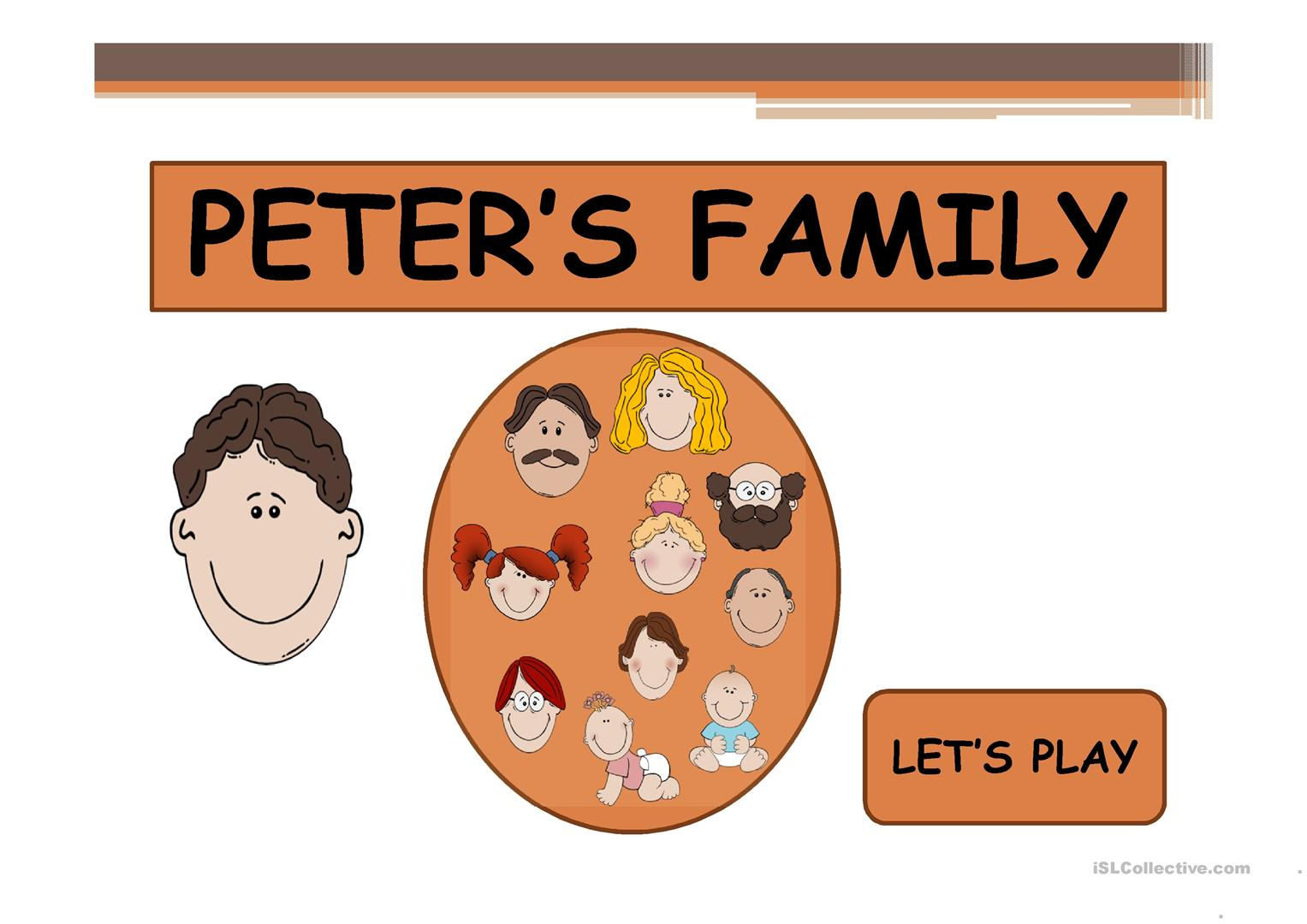 Peter S Family 2 Ppt Game Worksheet