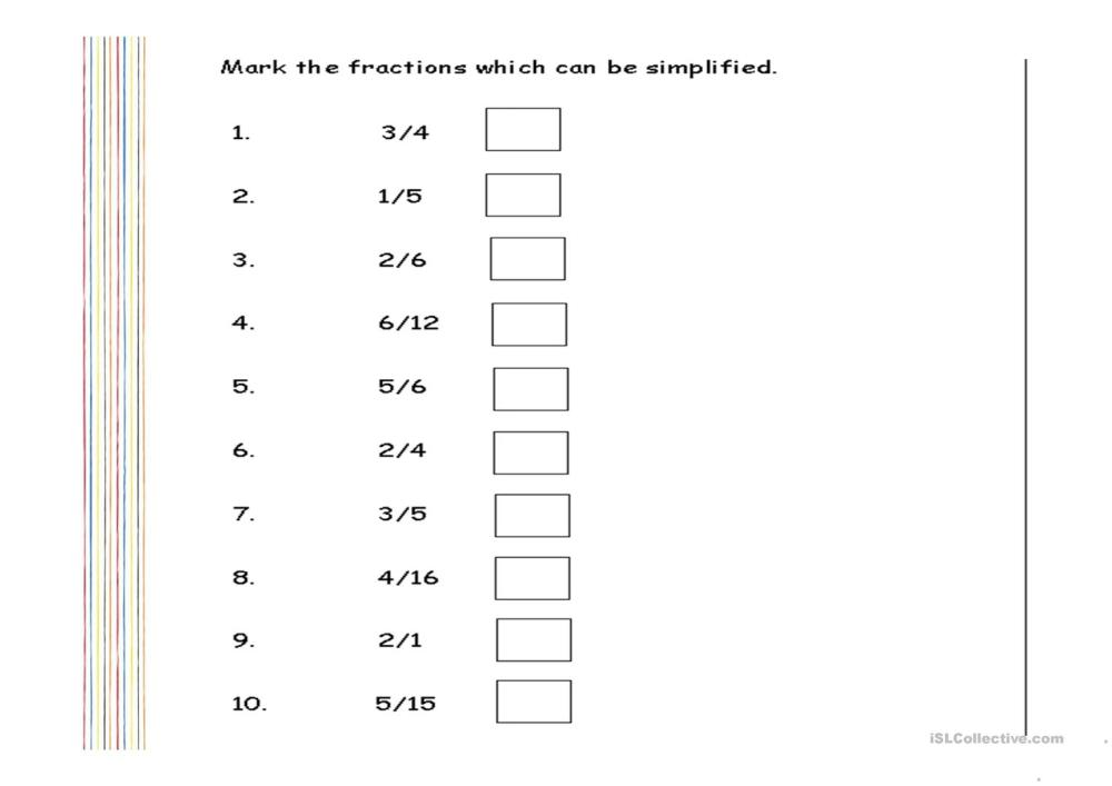 medium resolution of Worksheets Simplifying Fractions Fun   Printable Worksheets and Activities  for Teachers