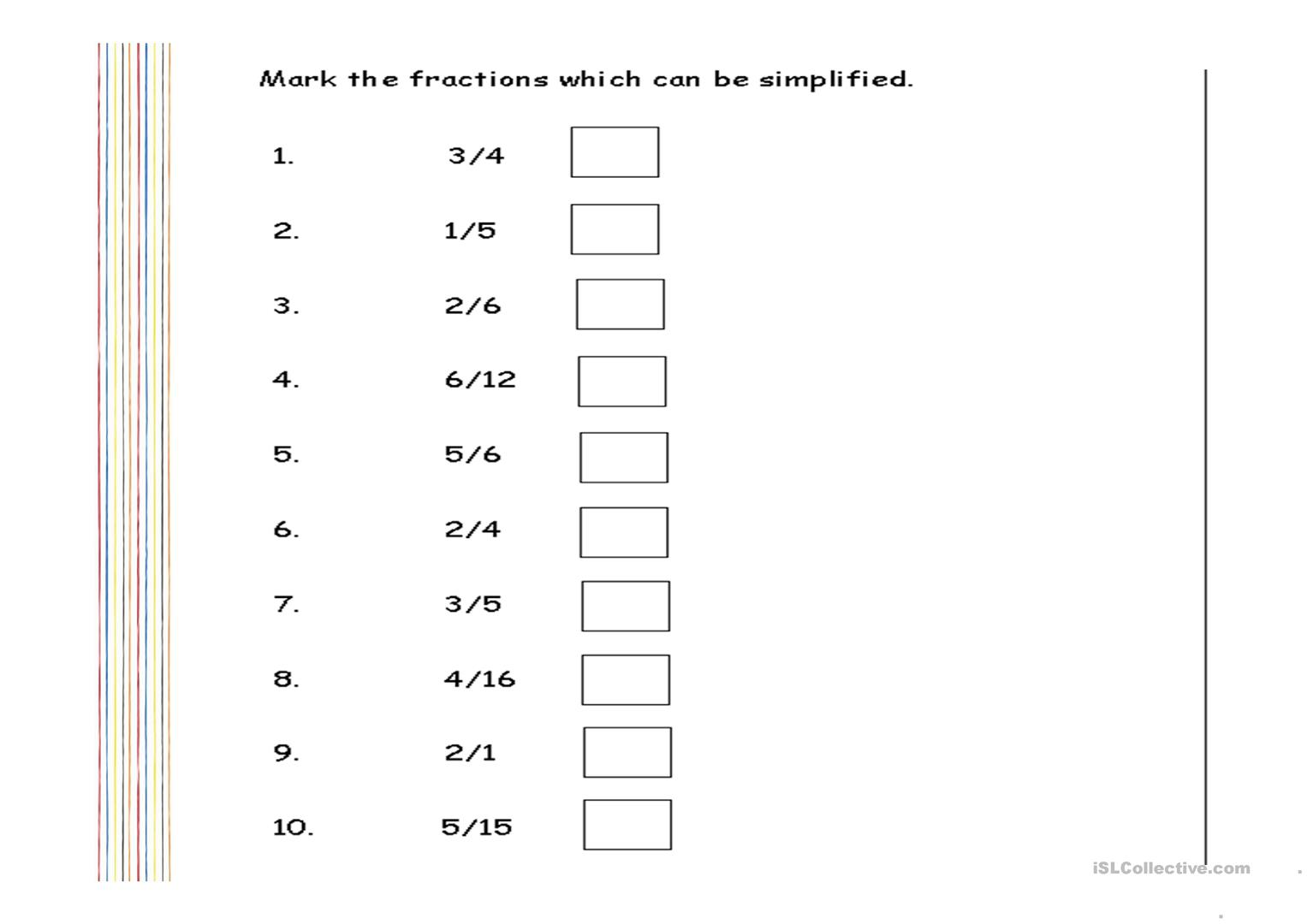 hight resolution of Worksheets Simplifying Fractions Fun   Printable Worksheets and Activities  for Teachers