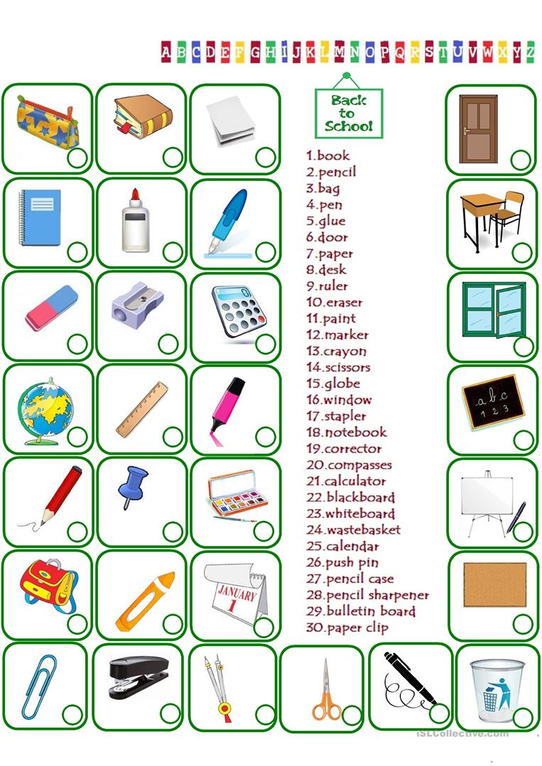 medium resolution of English ESL classroom objects worksheets - Most downloaded (126 Results)