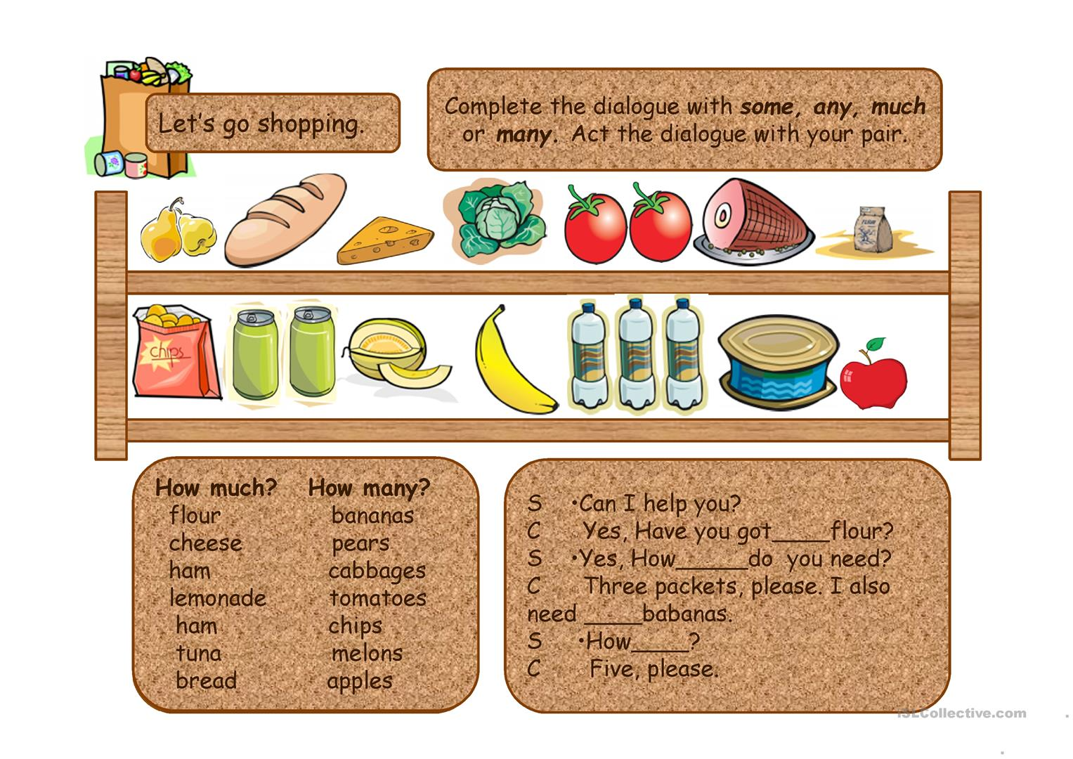 Fruit Vegetables Food Drinks Part 3 Ppt Worksheet