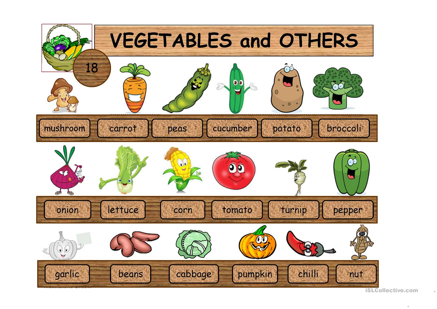 Fruit Vegetables Food Drinks Part1 Worksheet