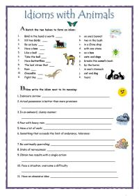 Idioms Worksheet Esl Pdf - Kidz Activities