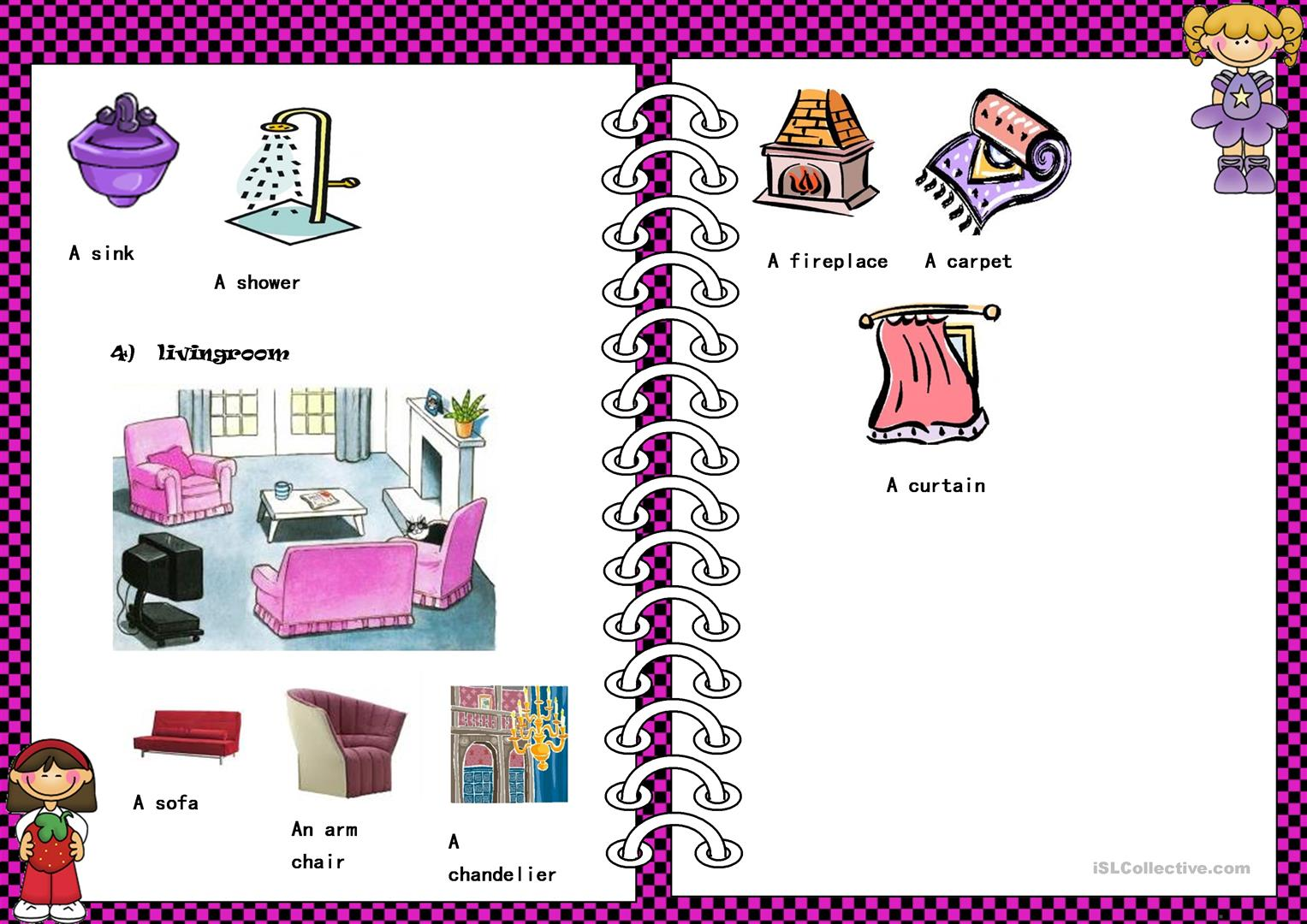 Rooms In The House Lesson Worksheet