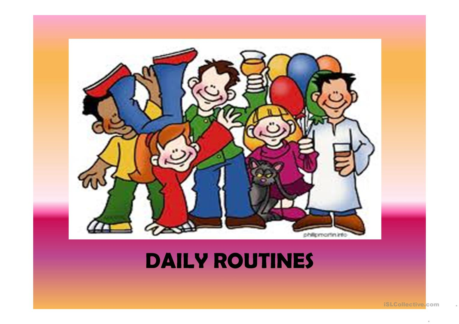 Daily Routines 41 Slides Extra Activities Included