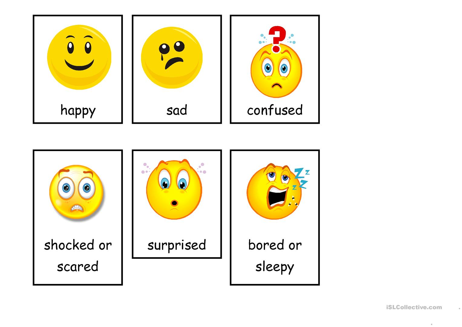 Emotions Flashcards Worksheet