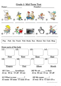 Usable Worksheets In English for Grade 3   goodsnyc.com