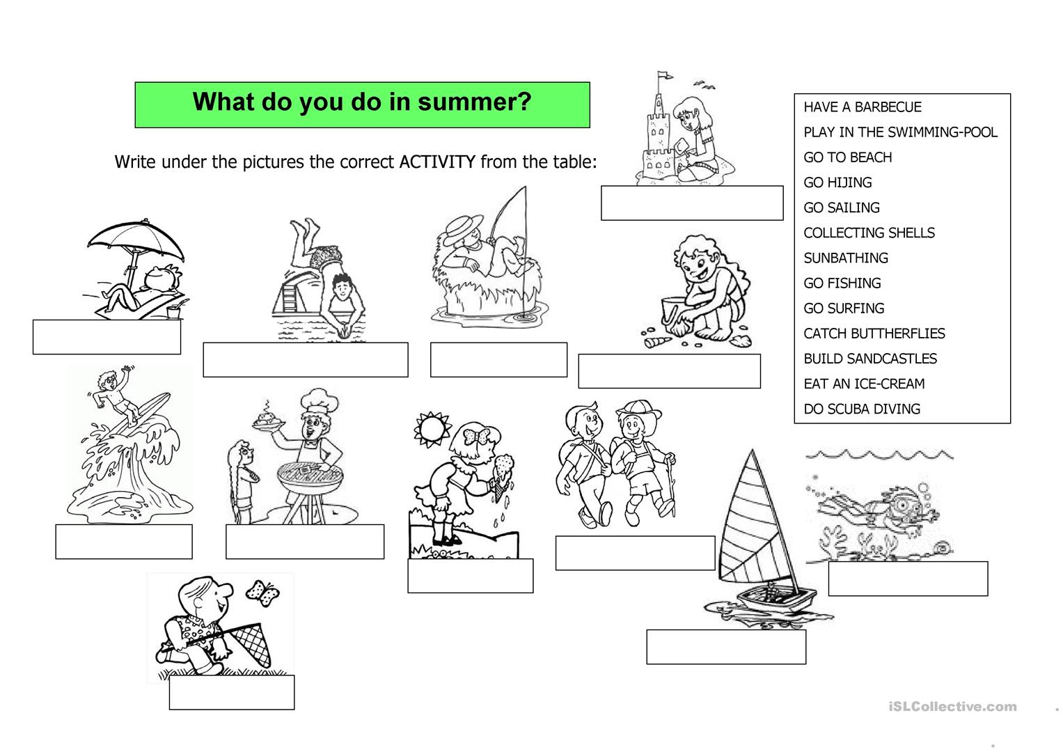 It S Summer 2 Pages Worksheet